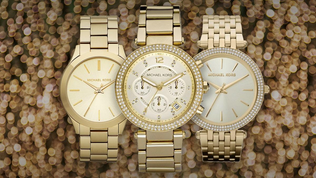 Nejkrásnější zlaté dámské hodinky Michael Kors