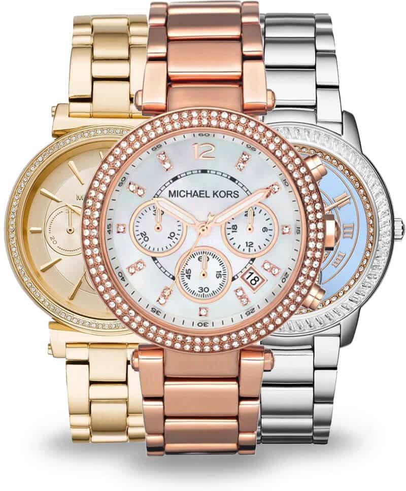 Zlaté a stříbrné dámské hodinky Michael Kors