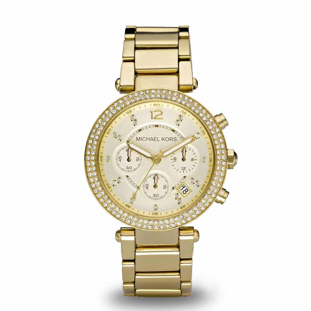 Zlaté hodinky Michael Kors Parker