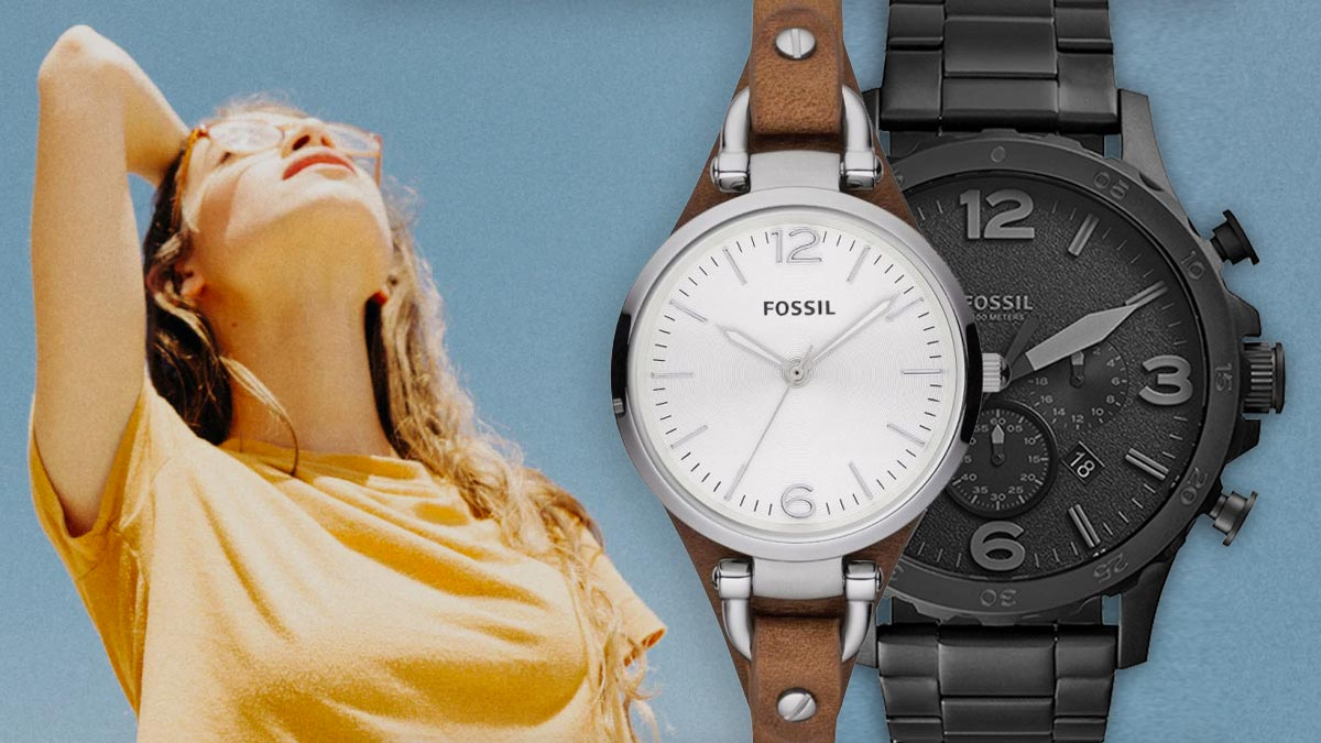 Stylové vintage hodinky Fossil