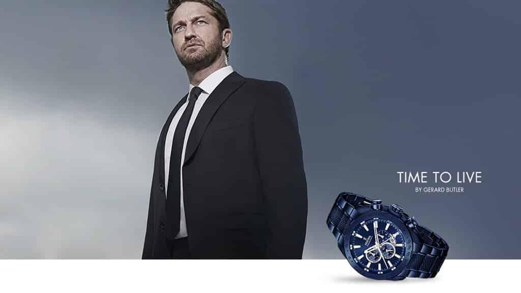 Gerard Butler v reklamní kampani značky Festina