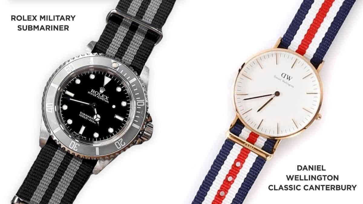 Textilní řemínek hodinek Rolex byl inspirací pro dámské hodinky Daniel Wellington