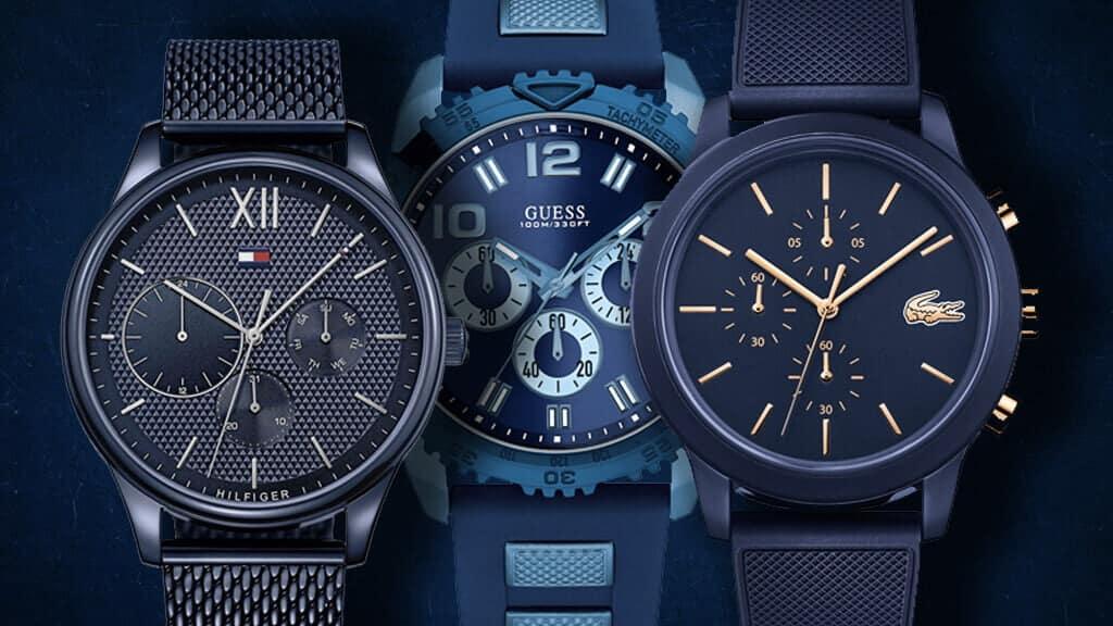 Modré hodinky pro pána jsou netradičním kouskem hodinek