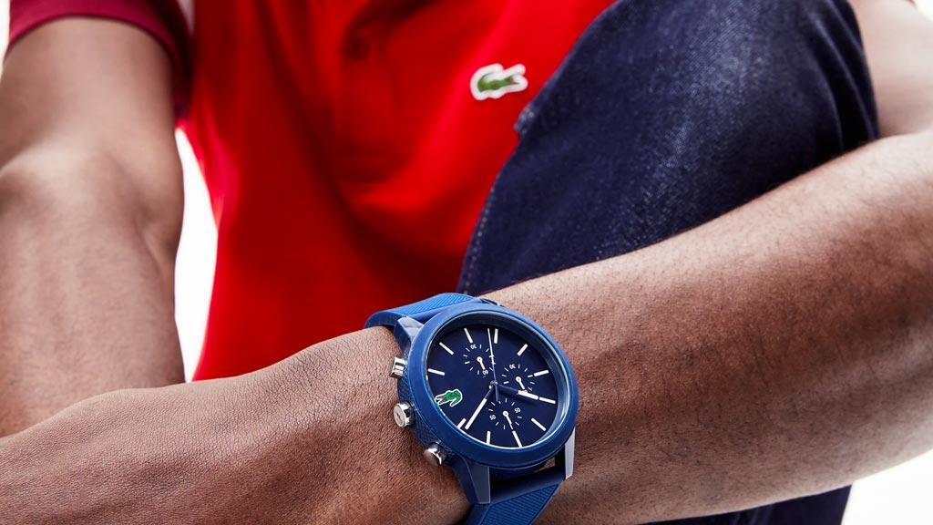 Modré sportovní hodinky Lacoste 12.12