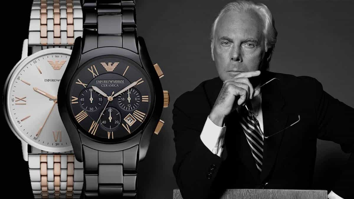 Ikonické pánské hodinky Emporio Armani od jednoho z nejvlivnějších lidí módního světa