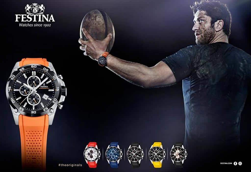 Gerard Butler v kampani pro sportovní hodinky Festina