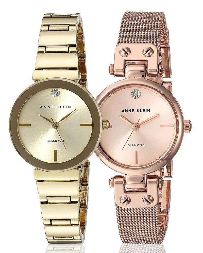 Dámské hodinky Anne Klein ve zlaté a růžovo-zlaté barvě