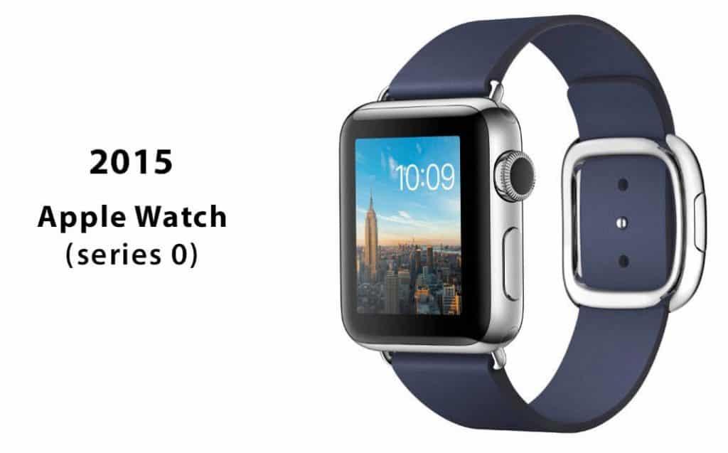 První generace hodinek Apple Watch nazývaná také Series 0