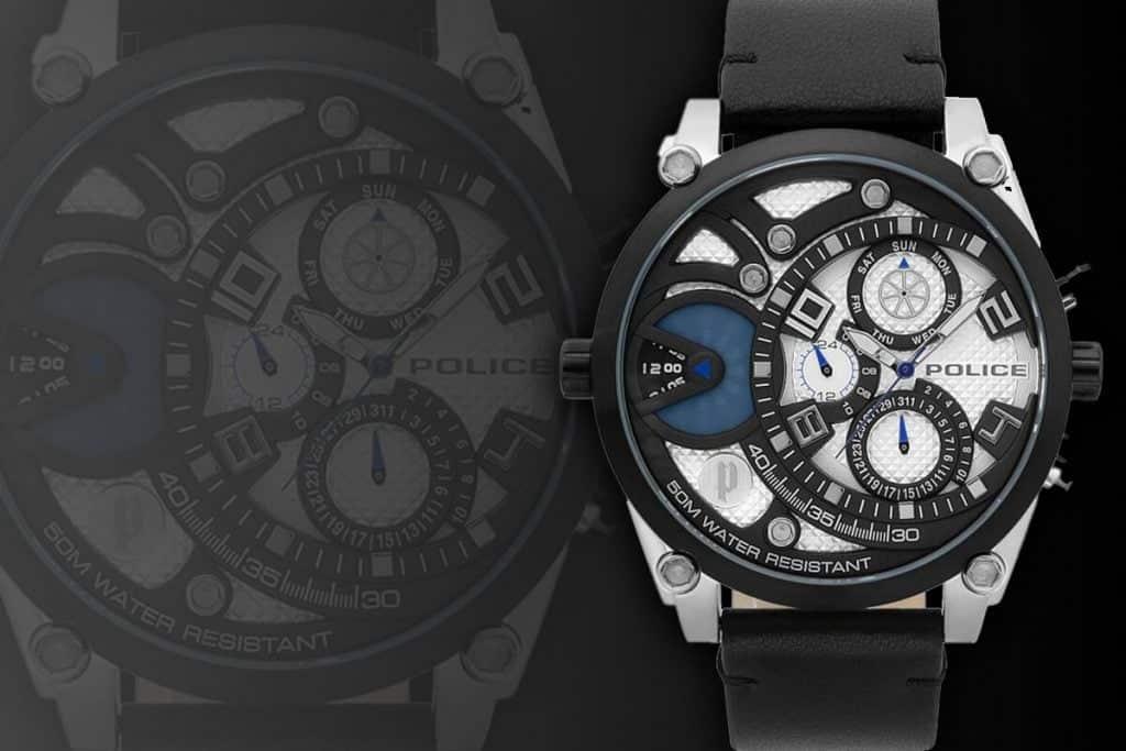 Extravagantní velké pánské hodinky Police