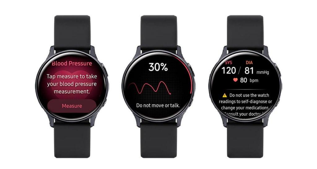 Měření krevního tlaku v smart hodinkách Galaxy Watch 3
