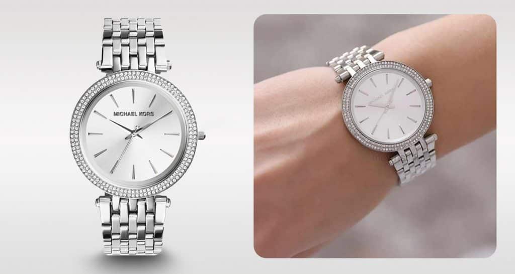 Nadčasové stříbrné dámské hodinky Michael Kors MK3190