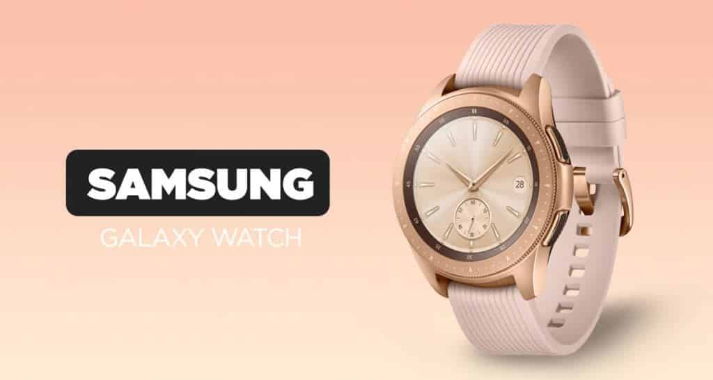 Poutavé dámské smart hodinky Samsung Galaxy Watch v růžovo-zlatém provedení