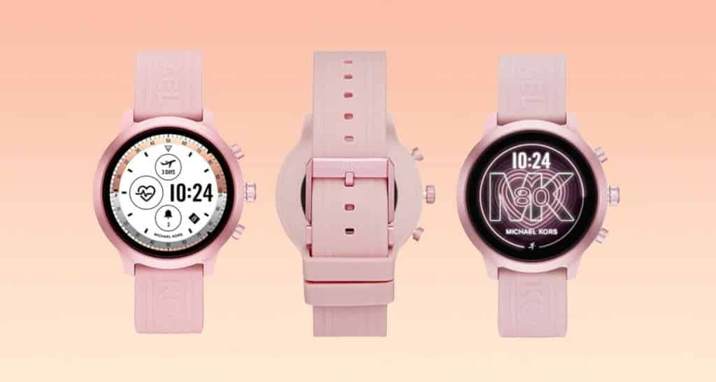 Růžové dámské smart hodinky Michael Kors