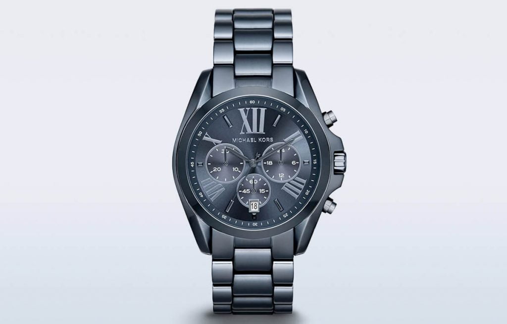 Tmavě-modré pánské hodinky Michael Kors