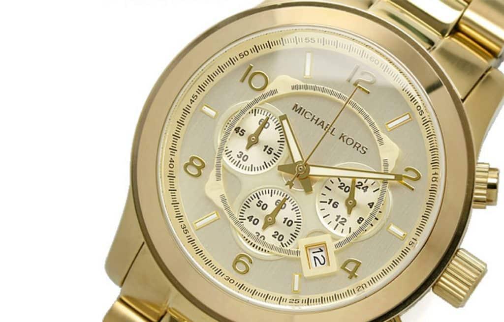 Masivní zlaté pánské hodinky Michael Kors MK8086