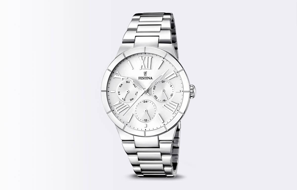 Stříbrné hodinky Festina Mademoiselle