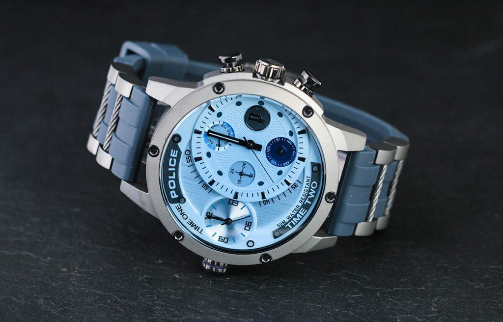 Modré pánské hodinky Police