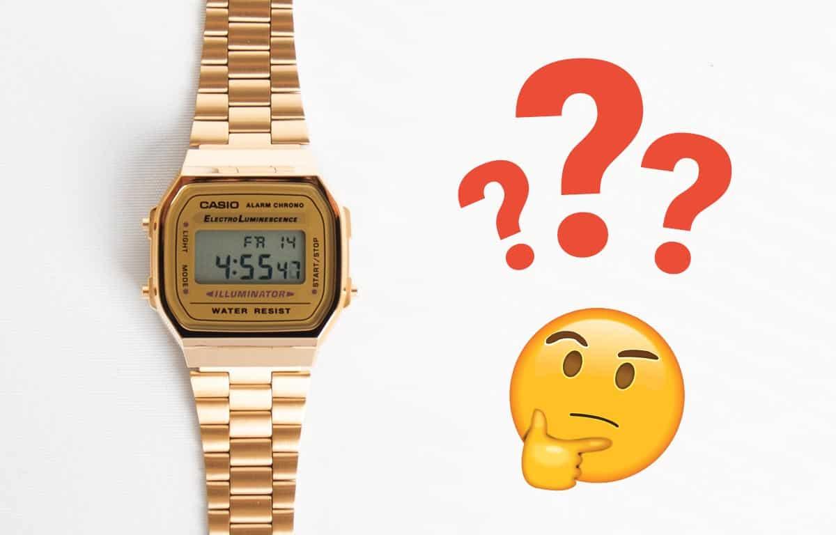 Nastavení času v hodinkách Casio Vintage