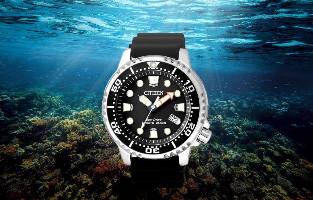 Stylové potápěčské hodinky Citizen BN0150-10E se silikonovým řemínkem