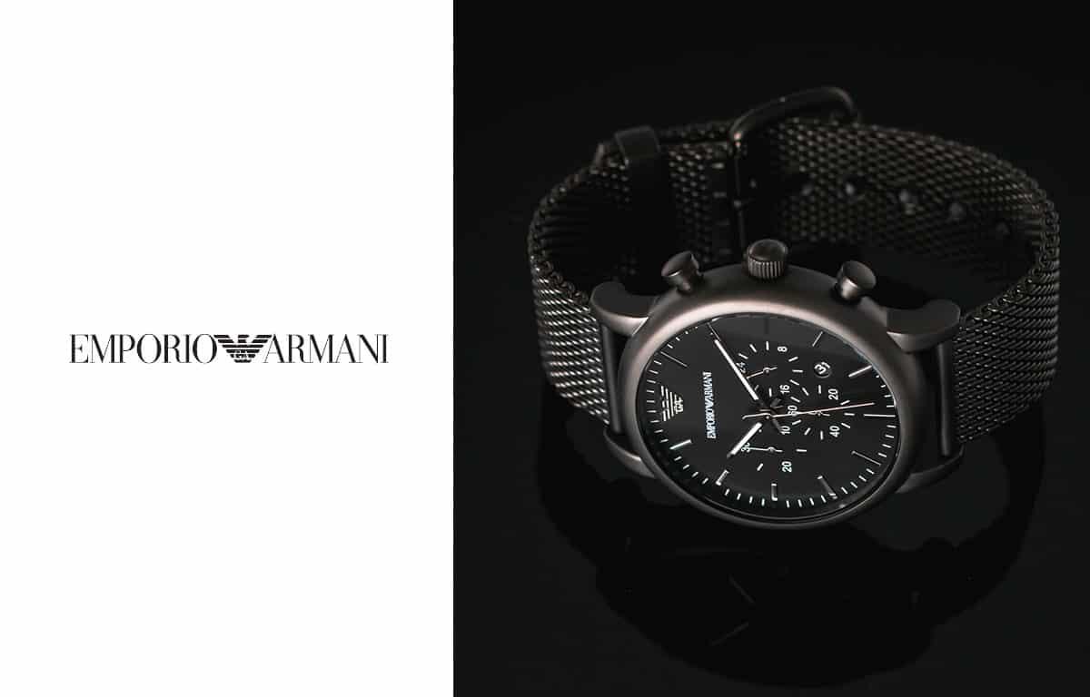 Pánské hodinky Emporio Armani v elegantní černé