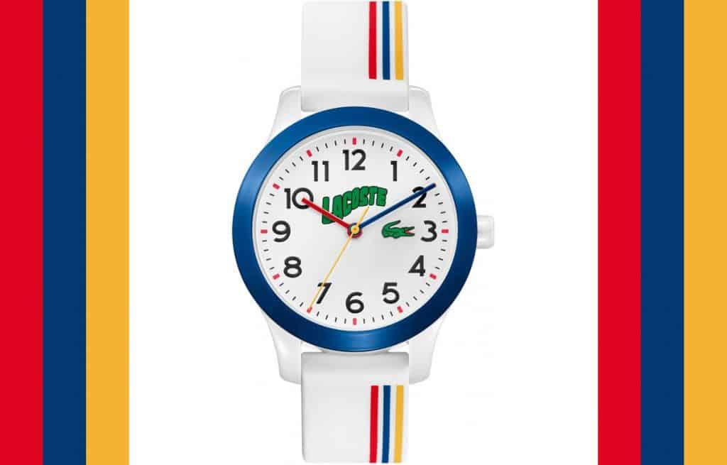 Pestrobarevné dětské hodinky Lacoste