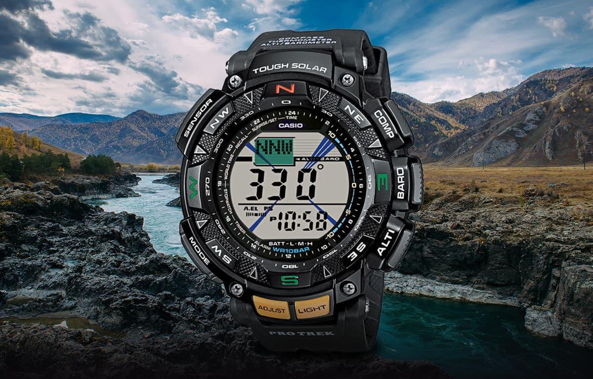 Multifunkční outdoor hodinky z edice Casio Pro Trek