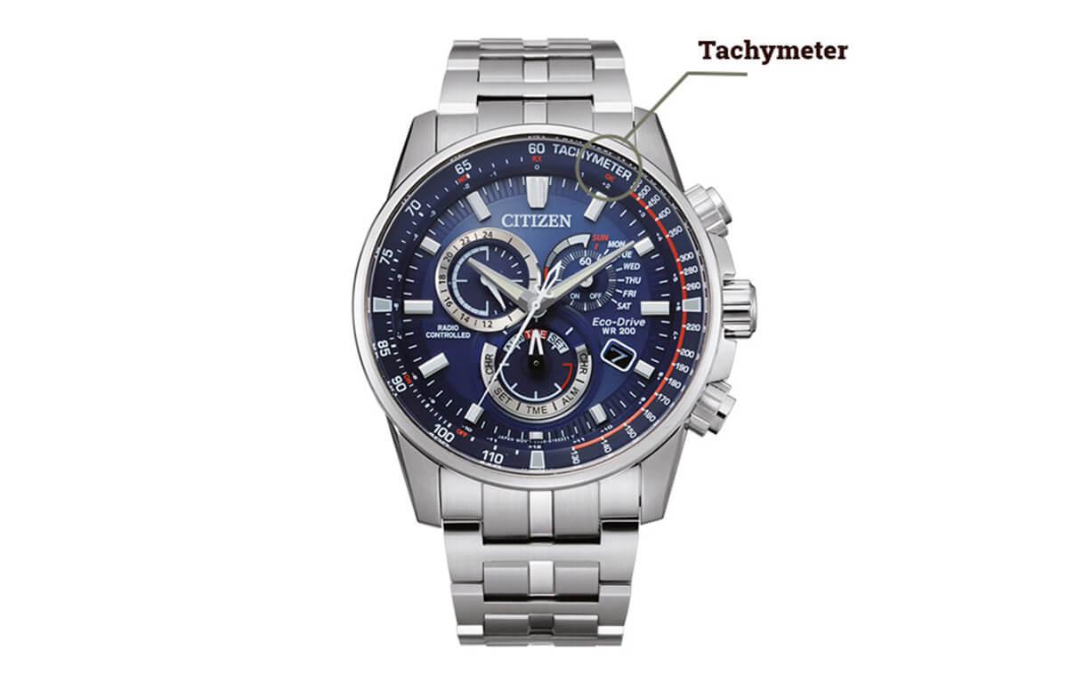 Tachymetr na hodinkách Citizen