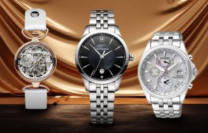 Dámské luxusní hodinky značek Zeppelin, Victorinox a Citizen
