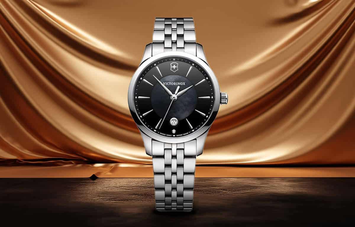 Luxusní dámské hodinky Victorinox s černým ciferníkem