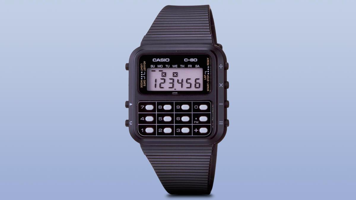 Casio C-80 - jedny z prvních hodinek s kalkulačkou